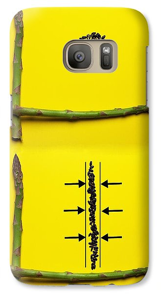 Galaxy Case featuring the photograph Asparagus And Black Rice Depicting Heisenberg Uncertainty Food Physics by Paul Ge