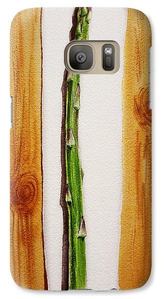 Asparagus Tasty Botanical Study Galaxy S7 Case by Irina Sztukowski