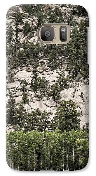 Galaxy Case featuring the photograph Aspen And Rock by Wayne Meyer
