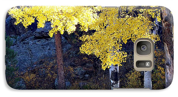 Galaxy Case featuring the photograph Aspen Bright by Linda Cox