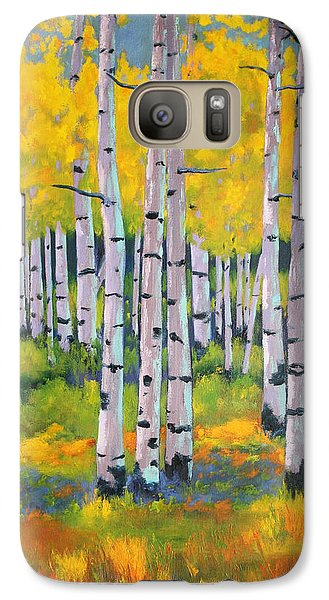 Galaxy Case featuring the painting Aspen Color by Nancy Jolley