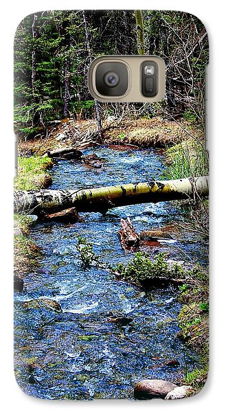 Galaxy Case featuring the photograph Aspen Crossing Mountain Stream by Barbara Chichester