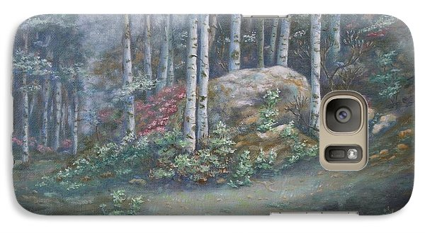 Galaxy Case featuring the painting Aspen Grove by Roena King