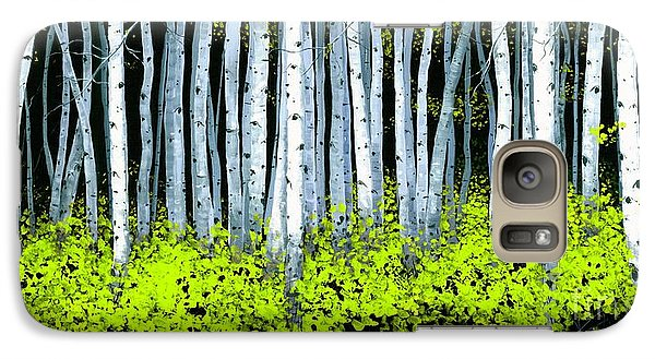 Galaxy Case featuring the painting Aspen II by Michael Swanson