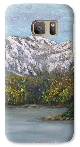 Galaxy Case featuring the painting Aspen Lake by J L Zarek