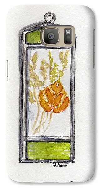 Galaxy Case featuring the painting Aspen Leaf Suncatcher by Julie Maas