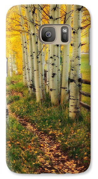 Galaxy Case featuring the photograph Aspen Path by Ronda Kimbrow