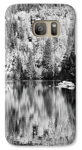 Galaxy Case featuring the photograph Aspen Reflections - Black And White by Harold Rau