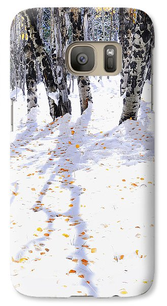 Galaxy Case featuring the photograph Aspen Shadows by The Forests Edge Photography - Diane Sandoval