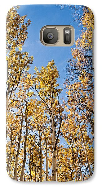 Galaxy Case featuring the photograph Aspen Trees In The Fall by Jeff Goulden
