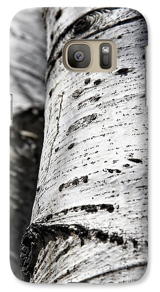Galaxy Case featuring the photograph Aspen Trunks In Light And Shadow by Lincoln Rogers