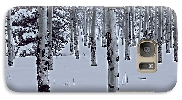 Galaxy Case featuring the photograph Aspens In The Snow by Kristal Kraft