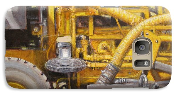 Galaxy Case featuring the painting Asphalt Paving Equipment by Donelli  DiMaria