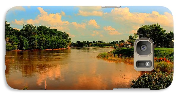Galaxy Case featuring the photograph Assiniboine River Hdr by Larry Trupp