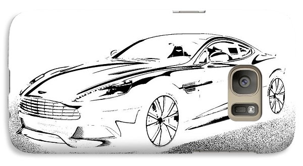 Galaxy Case featuring the digital art Aston Martin by Rogerio Mariani