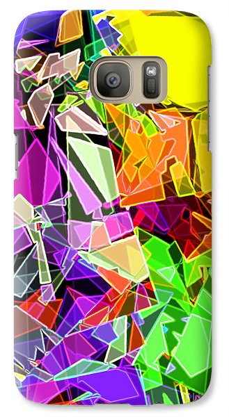 Galaxy Case featuring the digital art Astratto - Abstract 51 by Ze  Di
