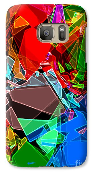 Galaxy Case featuring the digital art Astratto - Abstract 52 by Ze  Di
