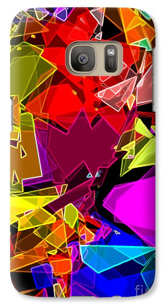 Galaxy Case featuring the digital art Astratto - Abstract 53 by Ze  Di