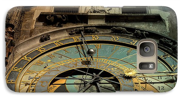 Galaxy Case featuring the photograph Astronomical Clock by Sergey Simanovsky