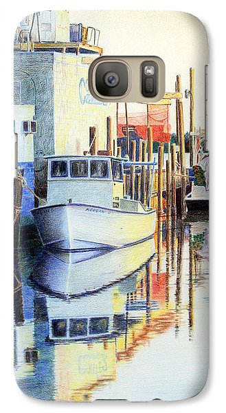 Galaxy Case featuring the painting At Cortez Docks by Roger Rockefeller