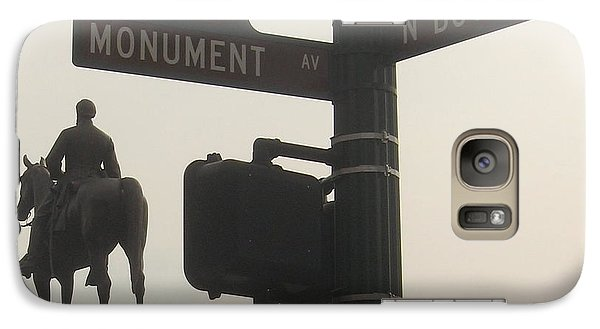 Galaxy Case featuring the photograph at Monument and Boulevard by Nancy Dole McGuigan