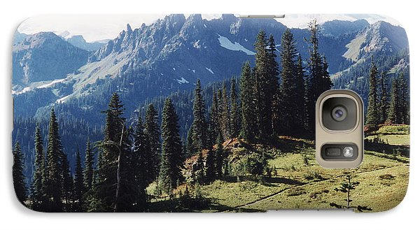Galaxy Case featuring the photograph At Mt. Rainiers Feet by Myrna Walsh