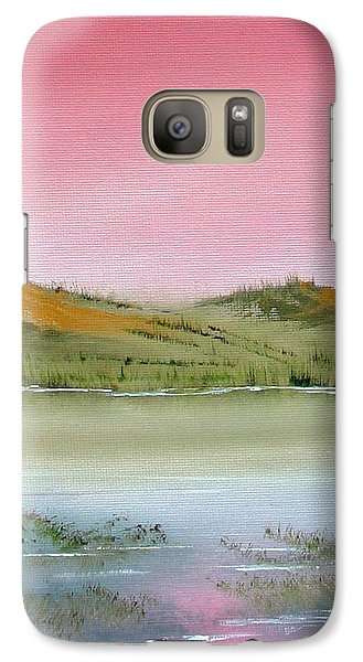 Galaxy Case featuring the painting At Peace by Jennifer Muller