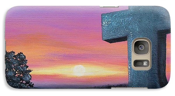 Galaxy Case featuring the painting At Peace by Susan DeLain