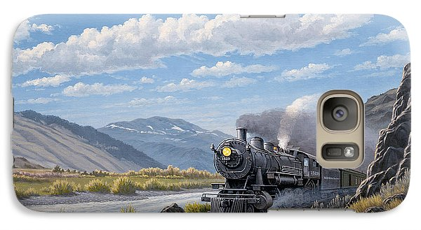 Train Galaxy S7 Case - At Point Of Rocks- Bound For Livingston  by Paul Krapf