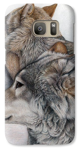 Galaxy Case featuring the painting At Rest But Ever Vigilant by Pat Erickson