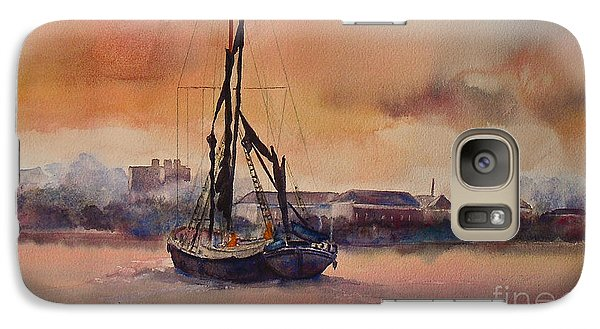 Galaxy Case featuring the painting At Rest On The Thames London by Beatrice Cloake