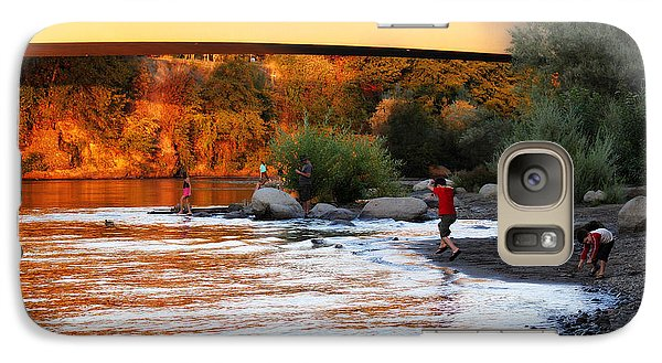 Galaxy Case featuring the photograph At Rivers Edge by Melanie Lankford Photography
