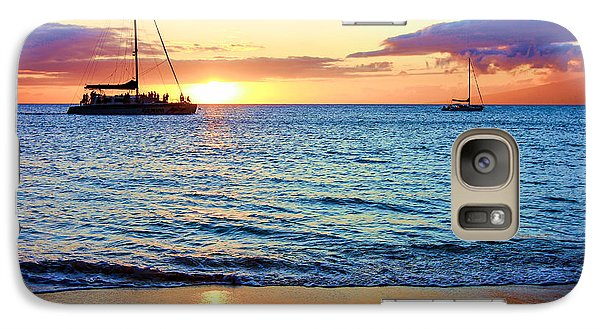 Galaxy Case featuring the photograph At Sea Sunset by Robert  Aycock