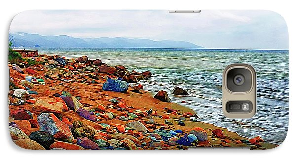 Galaxy Case featuring the photograph At The Beach In Puerto Vallarta by John  Kolenberg
