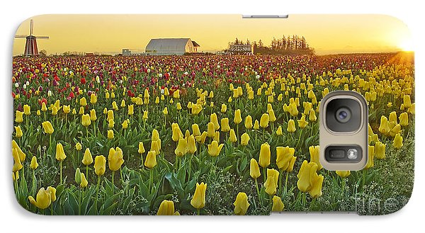Galaxy Case featuring the photograph At The Crack Of Dawn by Nick  Boren