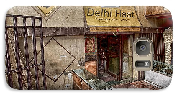 Galaxy Case featuring the digital art At The Delhi Haat Market by John Hoey