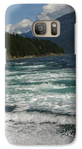 Galaxy Case featuring the photograph At The Edge by Rhonda McDougall