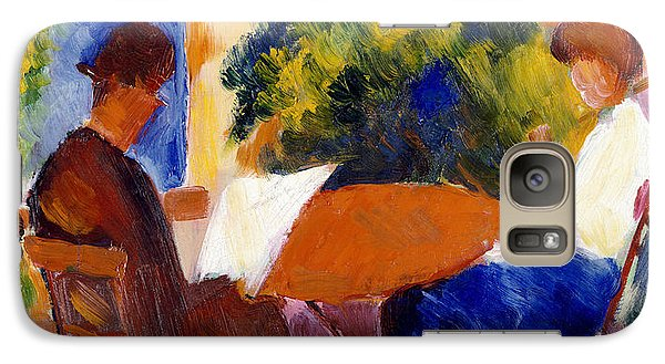 Garden Galaxy S7 Case - At The Garden Table by August Macke