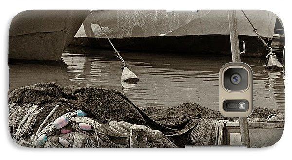 Galaxy Case featuring the photograph At The Harbor by Arik Baltinester