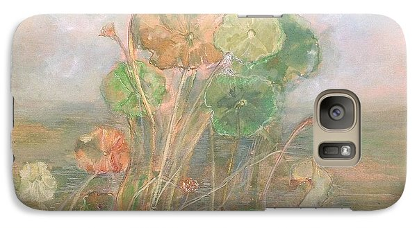 Galaxy Case featuring the painting At The Pond by Delona Seserman