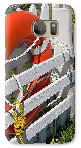 Galaxy Case featuring the photograph At The Ready by Jean Goodwin Brooks
