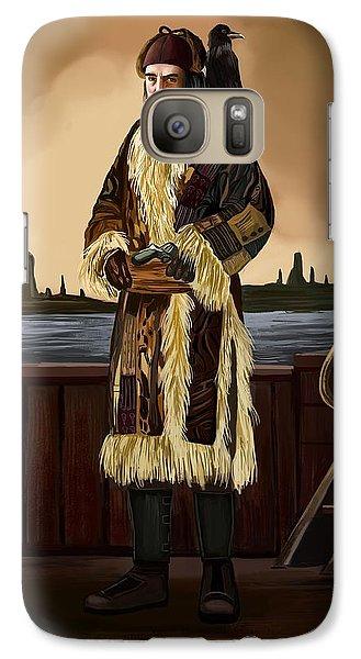 Galaxy Case featuring the digital art At The Sea by Bogdan Floridana Oana
