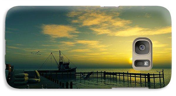Galaxy Case featuring the digital art At The Wharf... by Tim Fillingim