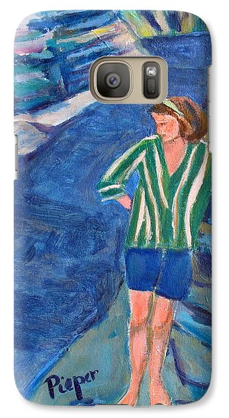 Galaxy Case featuring the painting At Wintergreen Park Canajoharie 1957 by Betty Pieper