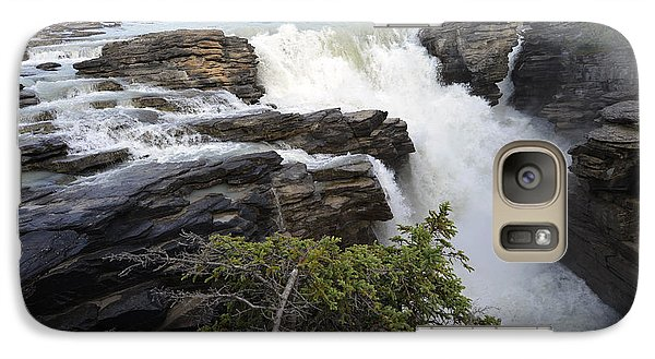 Galaxy Case featuring the photograph Athabasca Falls Jasper by Yue Wang