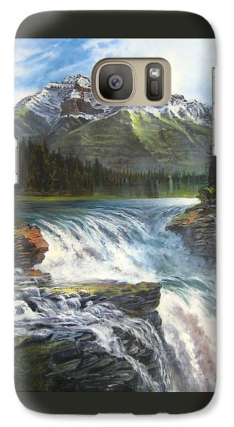 Galaxy Case featuring the painting Athabasca Falls by LaVonne Hand