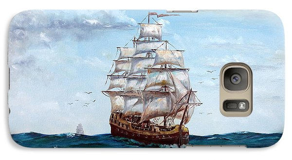 Galaxy Case featuring the painting Atlantic Crossing  by Lee Piper