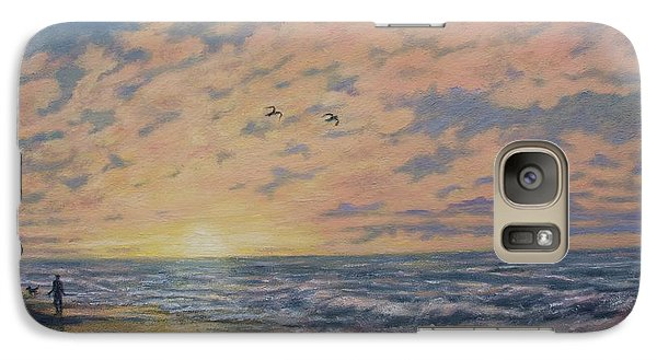 Galaxy Case featuring the painting Atlantic Dawn # 2 By K. Mcdermott by Kathleen McDermott
