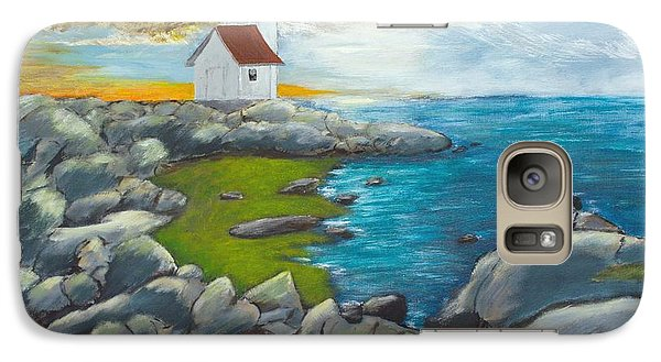 Galaxy Case featuring the painting Atlantic Dusk by Cynthia Morgan