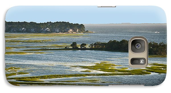 Galaxy Case featuring the photograph Atlantic Tidal Flats  Cit 16  by G L Sarti